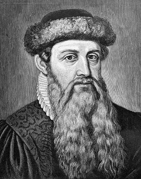 Johannes Gutenberg, inventor de la imprenta | Blog walltoprint